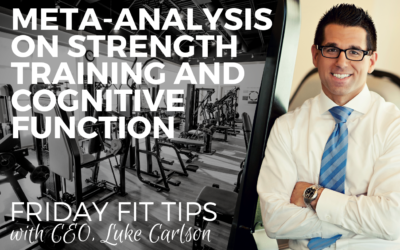 NEW META-ANALYSIS ON STRENGTH TRAINING AND COGNITIVE FUNCTION