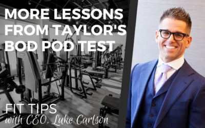 More Lessons from Taylor's Most Recent Bod Pod Test