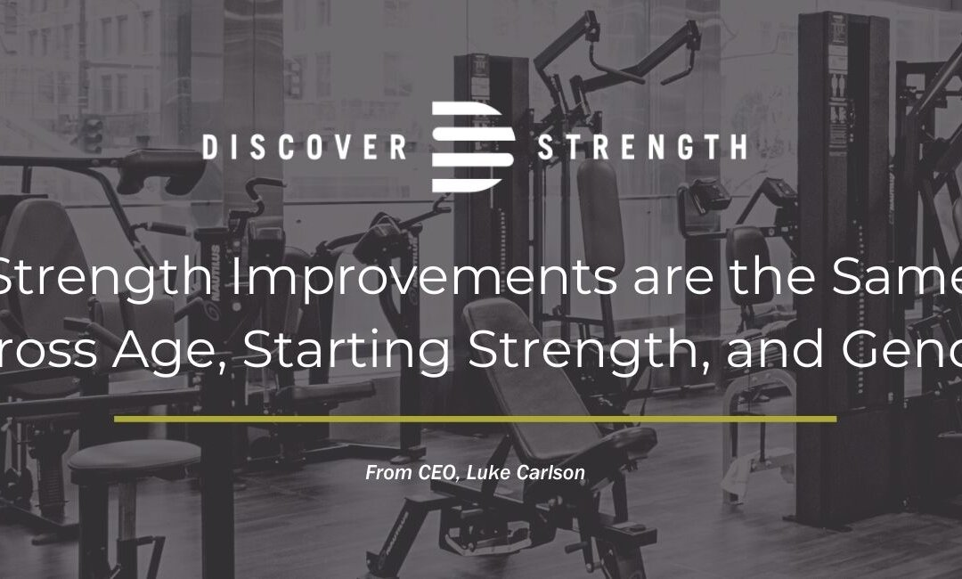 Strength Improvements are the Same Across Age, Starting Strength, and Gender